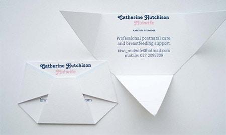 La carte origami.