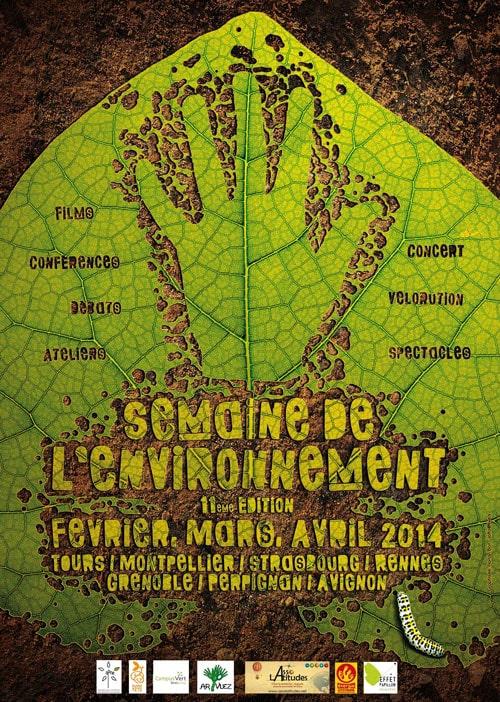 Affiche ''la Semaine de l'Environnement'' événement organisé par Latitudes.
