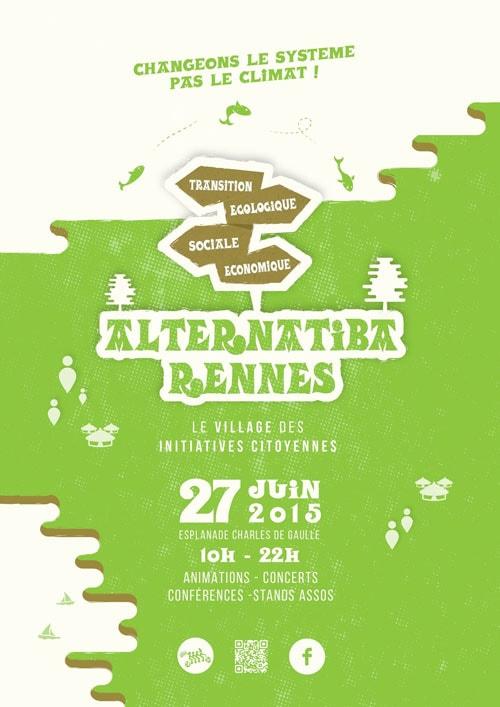 Alternatiba, association dont la mission est de lutter contre le réchauffement climatique dans un souci de justice sociale.