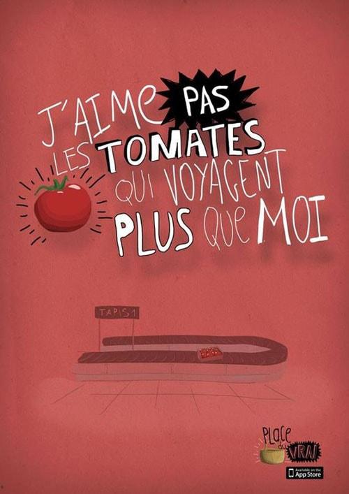 Campagne de promotion pour la consommation de produits locaux. Source inconnue.
